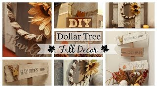 Dollar Tree Fall DIY | Farmhouse Decor