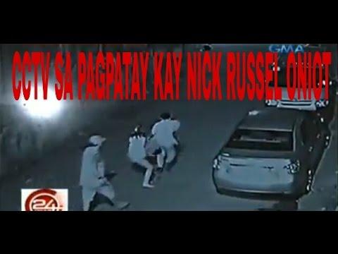 Actual na CCTV video sa pagpatay kay Nick Russel Oniot sa Taguig