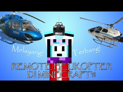 REMOTE HELIKOPTER DI MINECRAFT?!   Minecraft Indonesia BeaconCream S2
