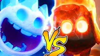 ЛЕДЯНОЙ ДУХ ПРОТИВ ОГНЕННЫХ ДУХОВ| ICE SPIRIT VS FIRE SPIRITS CLASH ROYALE BATTLE