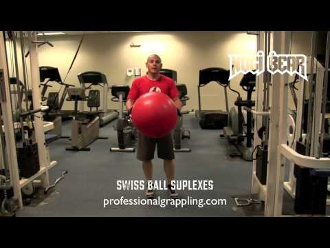 Swiss Ball Suplexes for MMA BJJ Strength Conditioning by Spartan Fitness - Nogi Bear™ AGL PGL