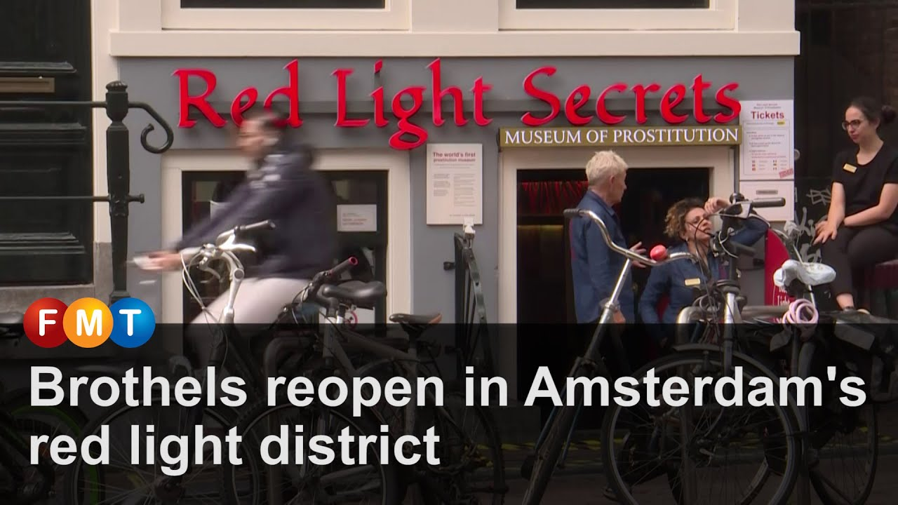 Brothels reopen in Amsterdam's red light district