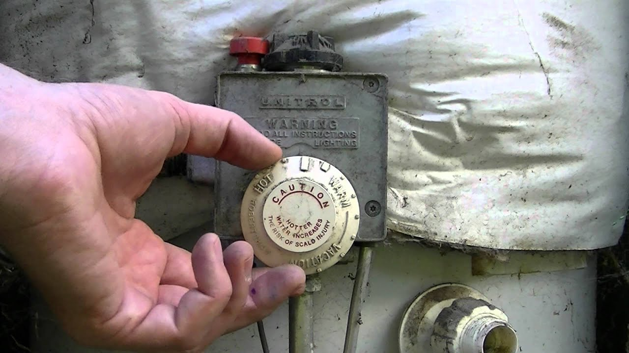 How To Change The Temperature On A Gas Water Heater YouTube