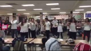 East Pennsboro High School students puts on flash mob to ask girlfriend to prom