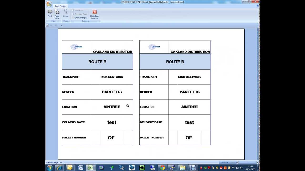 Print Excel Worksheets in One Page - YouTube