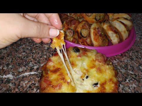 صورة  طريقة عمل البيتزا ميني بيتزا باسهل طريقه واحلي عجينه مع صدفه جاد طريقة عمل البيتزا بالفراخ من يوتيوب