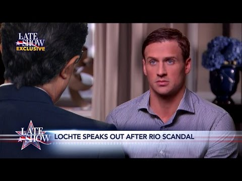 Thumbnail: Late Show Exclusive: Ryan Lochte Comes Clean to Stephen Colbert