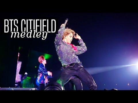 BTS FULL MEDLEY    BAEPSAE!! + DNA, ATTACK ON BANGTAN, FIRE, DOPE   CITI FIELD FANCAM 10.06.18