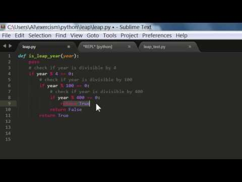 Get Good at Python Programming - Problem #2 - Leap Year (Solution)