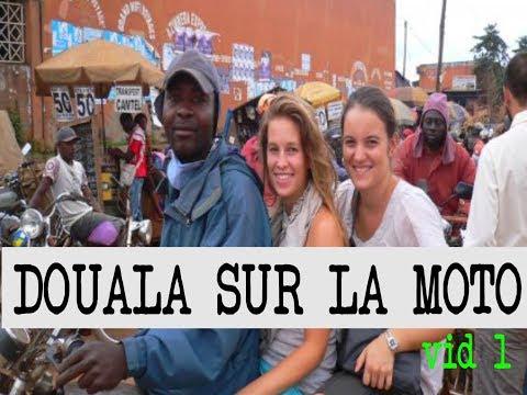 DOUALA Sur la MOTO: visiter la ville et Découvrir la ville (Douala Cameroun 2019) vid. 1