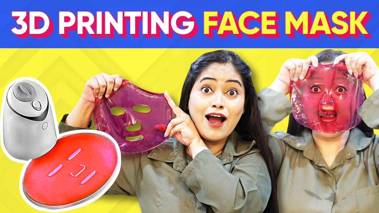 I Tried 3D Printing Face Mask😮My Own Custom Face Mask 😱Shocking Result Testing Most Viral Beauty