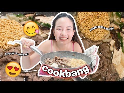 PANCIT CANTON + SUGAR?! KOREAN BULGOGI AND JAPANESE SUKIYAKI COOKBANG