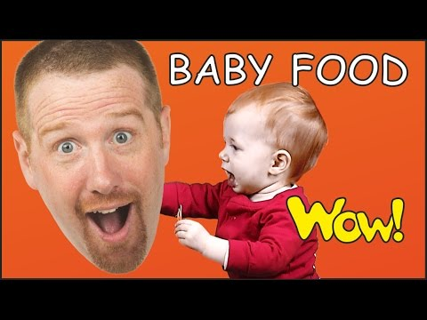 Baby Food | English Short Stories for Kids | Baby Steve and Maggie | Wow English TV | Cartoon Story