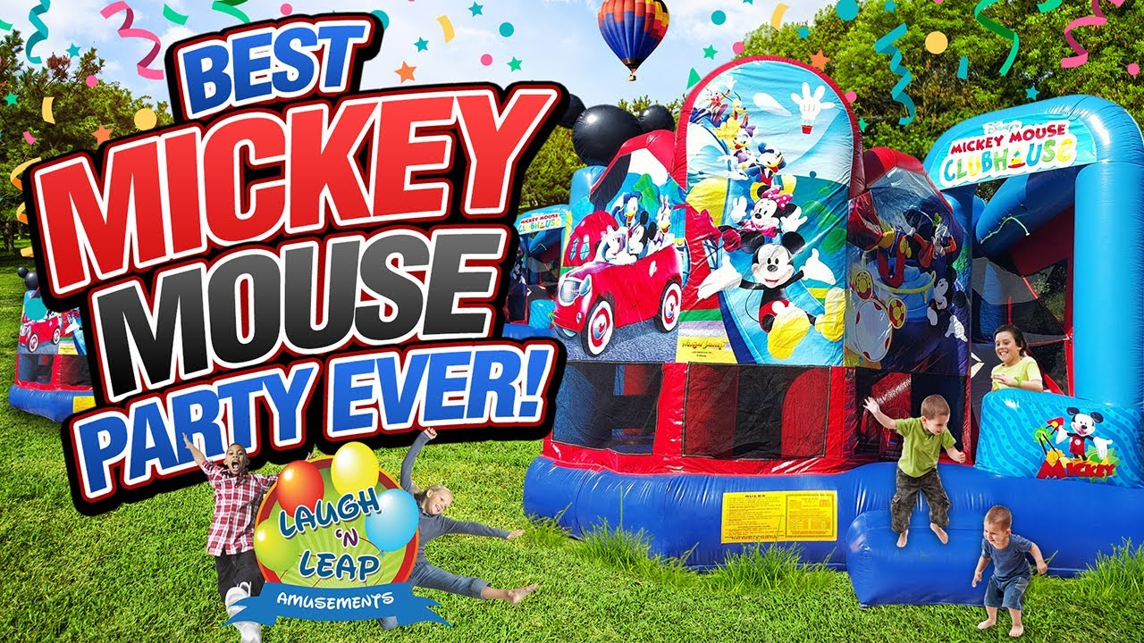 mickey mouse clubhouse inflatable bounce house for kids parties youtube - Inflatable Bounce House