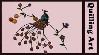 how to make paper quilling peacock