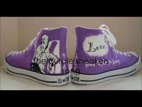 The purple sneakers song