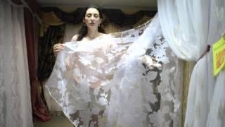 Купить белый тюль органза(Органза с белыми атласными цветами, Турция. Больше материалов на сайте - http://salon-gardin.com.ua/, 2015-10-27T09:40:19.000Z)