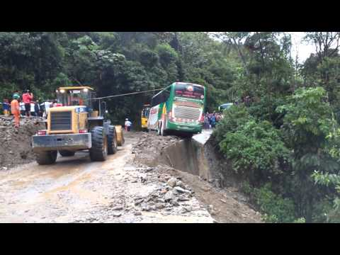 Huayco en tramo Tingo Maria Huanuco