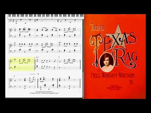 That Texas Rag by Nell Wright Watson (1913, Ragtime piano)