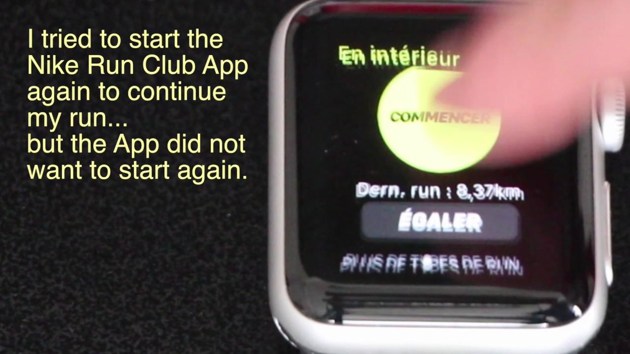 premium selection 3eb3e d2477 Nike + Run Club App crash with Apple Watch 2