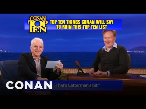 Scraps: Steve Martin and Conan Work Out The Top 10 List
