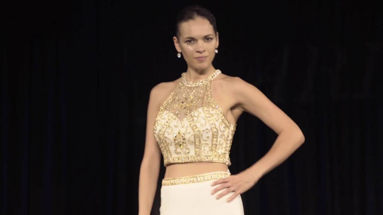 13a858e9a0b Clarisse Sexy Two Piece Dress Style 3006 in Ivory Gold - YouTube