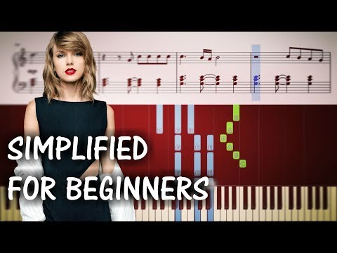 ME Taylor Swift & Panic At The Disco - EASY Piano Tutorial + SHEETS