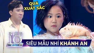 Siêu mẫu nhí Khánh An vượt qua nỗi sợ vẫn giữ thần thái đỉnh khi catwalk khiến Trấn Thành 'thích mê'