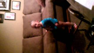 Maebelle dancing to Miss America pagent music!