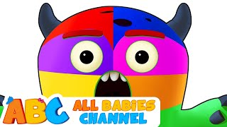 MONSTER FACE PAINTING   Learn Colors With Face Paint   3D Nursery Rhymes For Kids   AllBabiesChannel