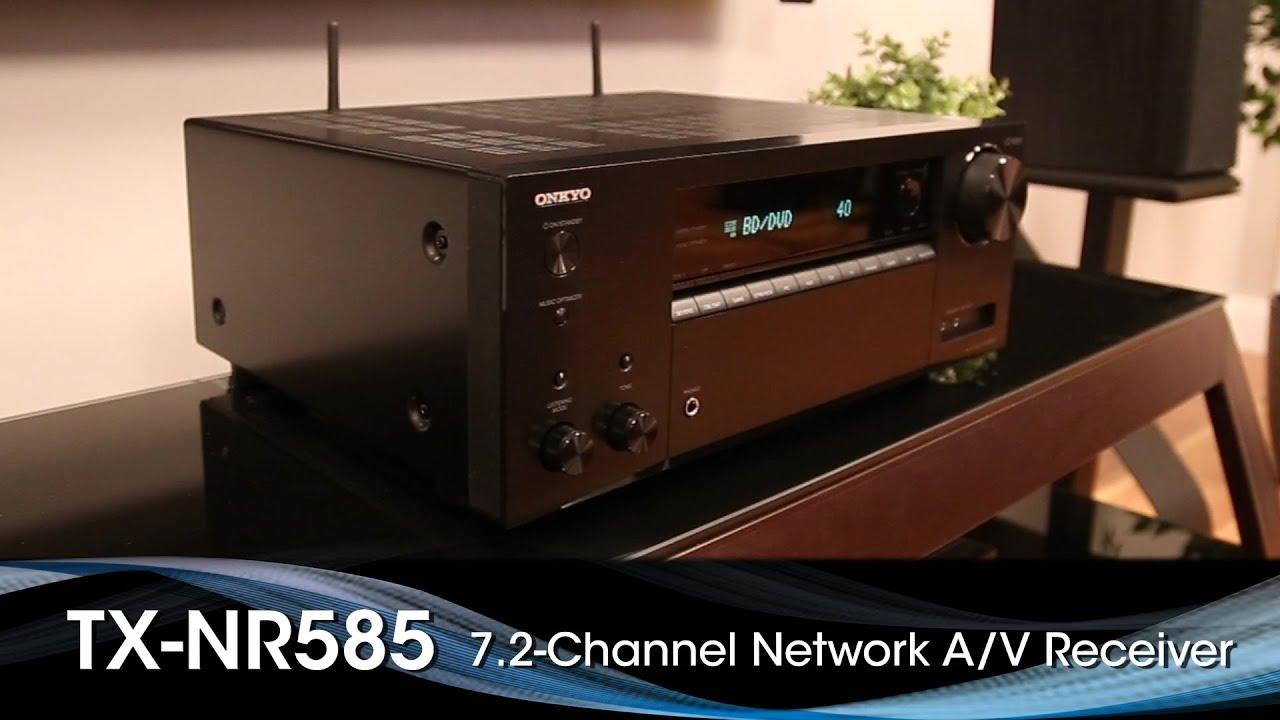 The Onkyo TX-NR585 AV Receiver