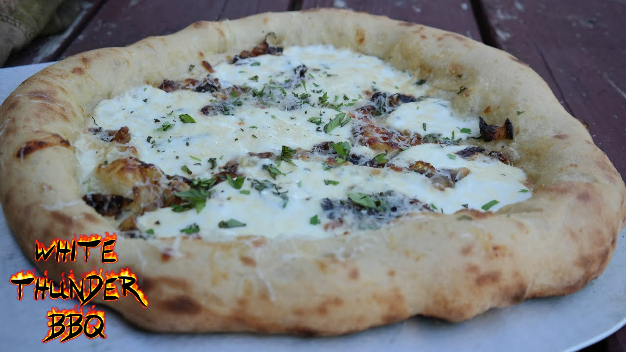 Pizza Blanco Recipe | Wood Fired Pizza | White Thunder BBQ - YouTube