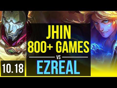 JHIN & Janna vs EZREAL & Yuumi (ADC) | 2.7M mastery points, 800+ games | NA Diamond | v10.18