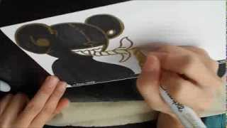 How to draw Sticker Colab by China Doll