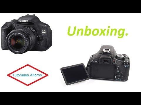 Unboxing & setup Canon EOS 600D