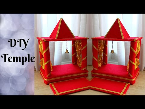DIY Temple (with minimum craft supplies) | Make Easy Temple/Mandir at home