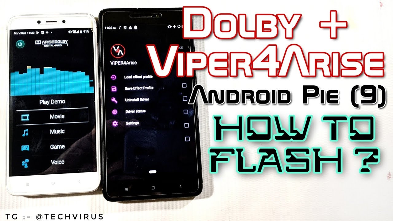 A R I S E Sound System (Dolby Digital Plus and ViPER) How to flash in  android Phones? Android Pie