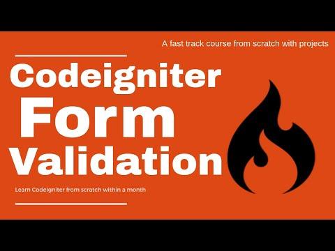 Form Validation In Codeigniter
