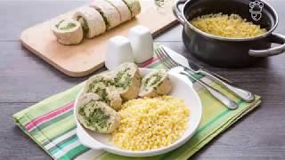 Рулет из индейки со сливочным сыром и шпинатом: доставка продуктов с рецептами Шефмаркет