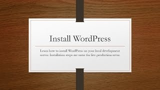 Learn how to install WordPress 4.3.1 on local server