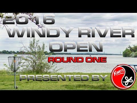 2016 Windy River Open MPO Round 1 (Leslie, Sheehan, Hopwood, Sauve) Disc Golf