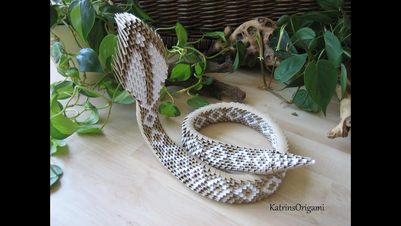 3d King Cobra Snake Wallpaper Origami 合 3d King Cobra 合 Youtube
