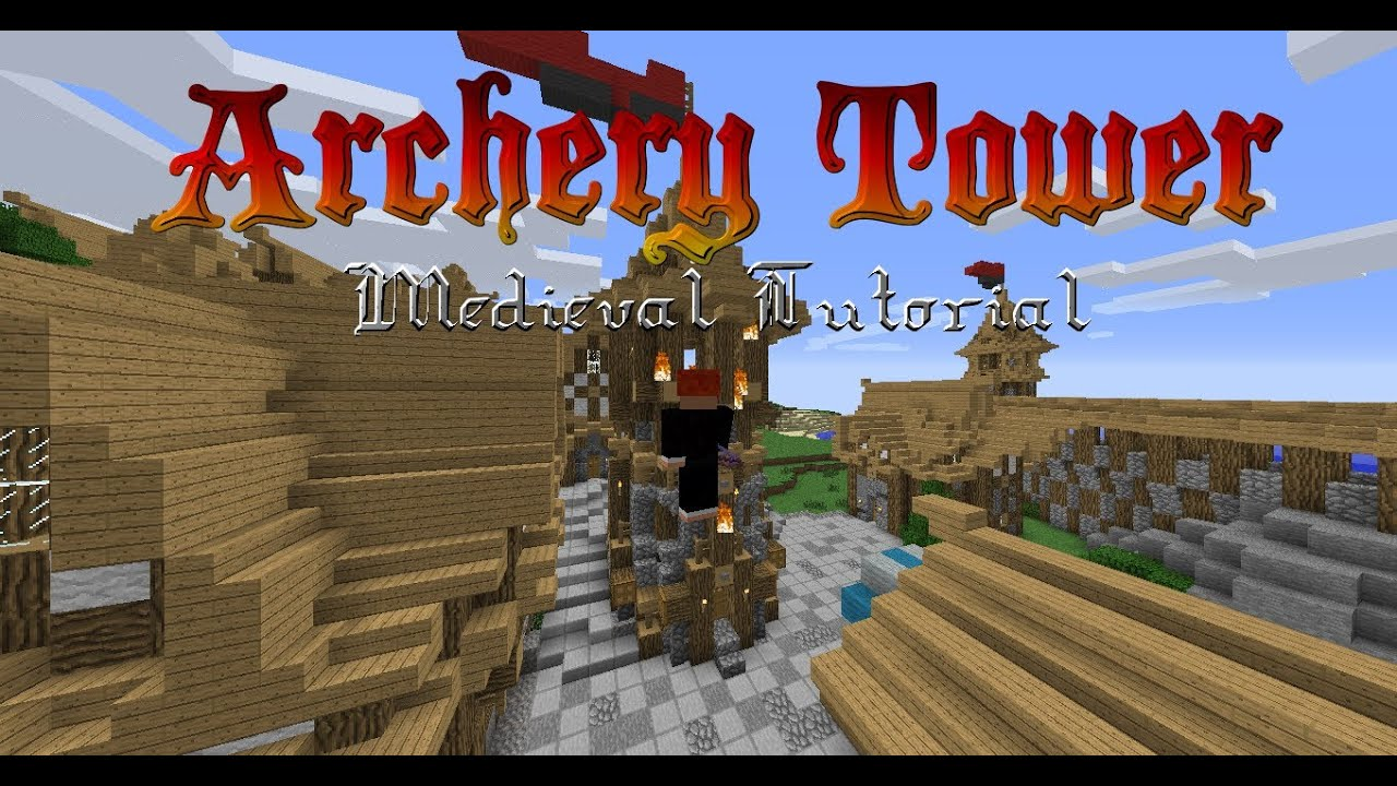 How To Make A Medieval Archery Tower (Minecraft Tutorial)