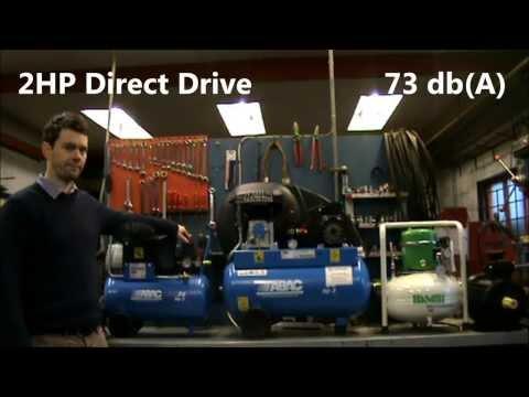 Air Compressor Sound Level - Noise comparison between Belt, Direct Drive and Silent.