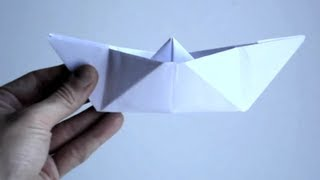 How To Make A Paper Boat | Origami Paper Boat 9 Easy Steps