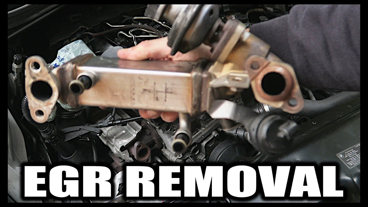 medium resolution of how to remove blank bmw 1 3 5 series n47 egr valve delete