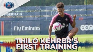 THILO KEHRER'S FIRST TRAINING FOR PARIS SAINT-GERMAIN