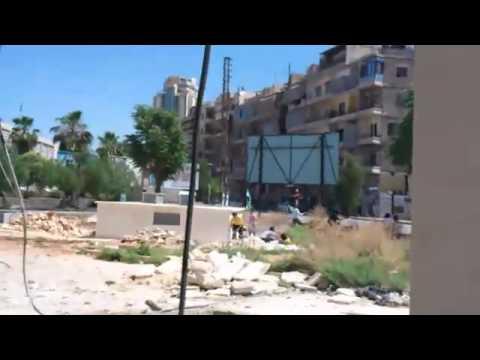 حلب: إطلاق نار من قبل شبيحة ساحة سعدالله الجابري 1-6-2012 ج2