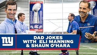 Dad Jokes with Eli Manning & Shaun O'Hara 😂 | New York Giants