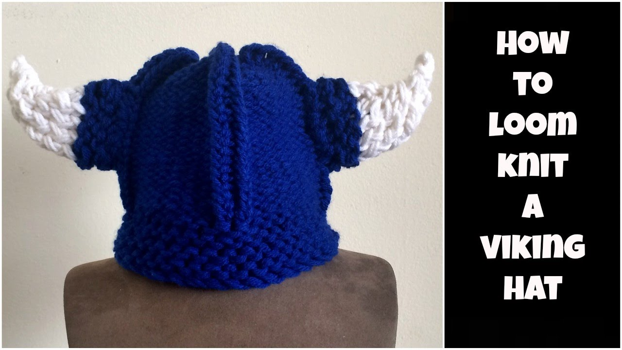 How to loom knit a Viking hat - YouTube 568a825dc6d